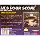 Four Score 4-player adapter for Nintendo NES - back of box