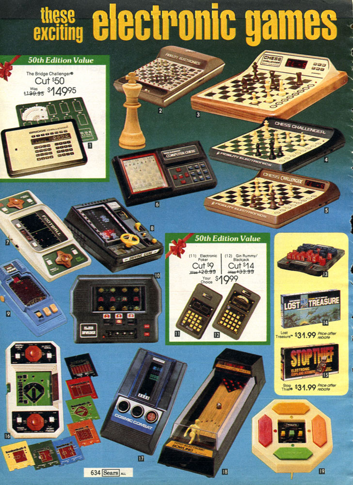 Retro #toys and #videoGames from the Sears Christmas Wish