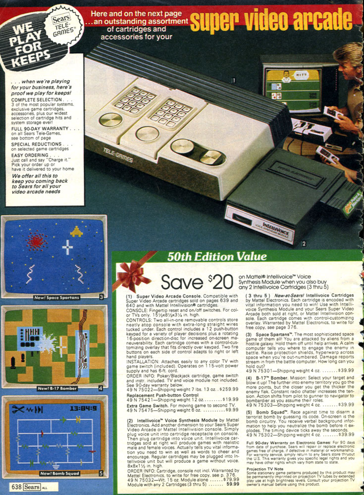 Retro #toys and #videoGames from the Sears Christmas Wish Book 1982