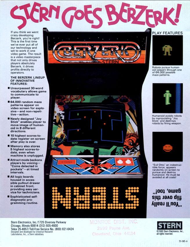 Game review: Atari Berzerk for #Atari 2600