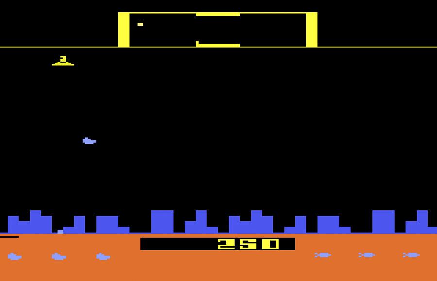 Game Review Atari Defender For Atari 2600