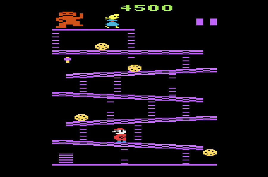 Game Review Coleco Donkey Kong For Atari 2600