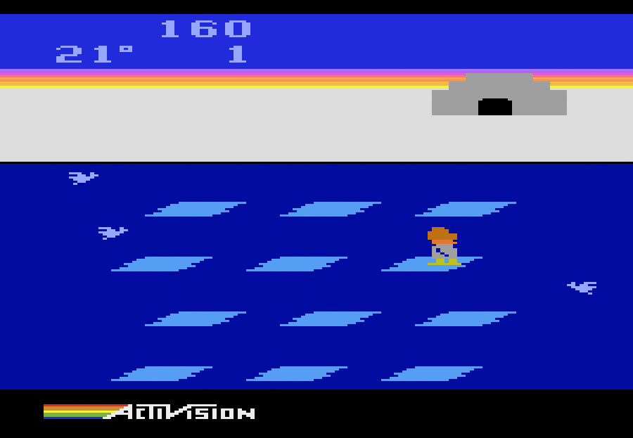 Activision's Frostbite for Atari 2600 screenshot Classic Retro Gaming Video Game Review