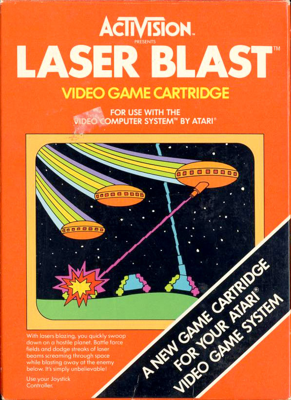 Game Review Activision S Laser Blast For Atari 2600