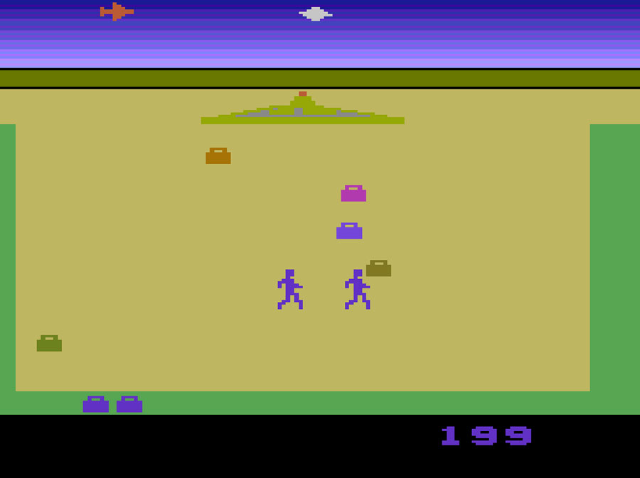 Apollo's Lost Luggage for Atari 2600 screenshot Classic Retro Gaming Video Game Review