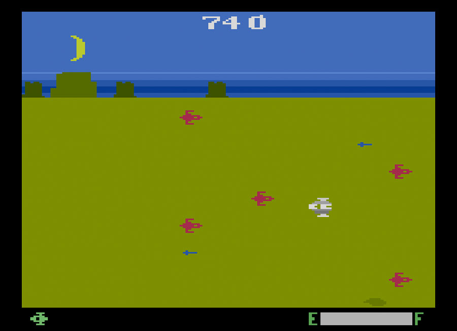 Spectravision's Planet Patrol for Atari 2600 screenshot Classic Retro Gaming Video Game Review