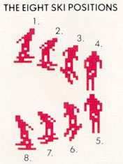 8 positions of the Activision skiier sprite