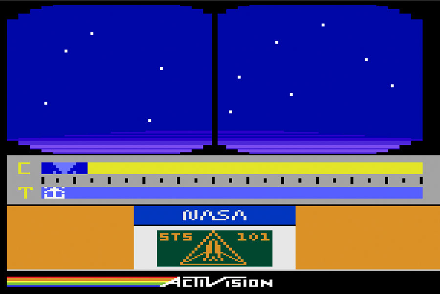 Activision Space Shuttle for Atari 2600 screenshot Classic Retro Gaming Video Game Review