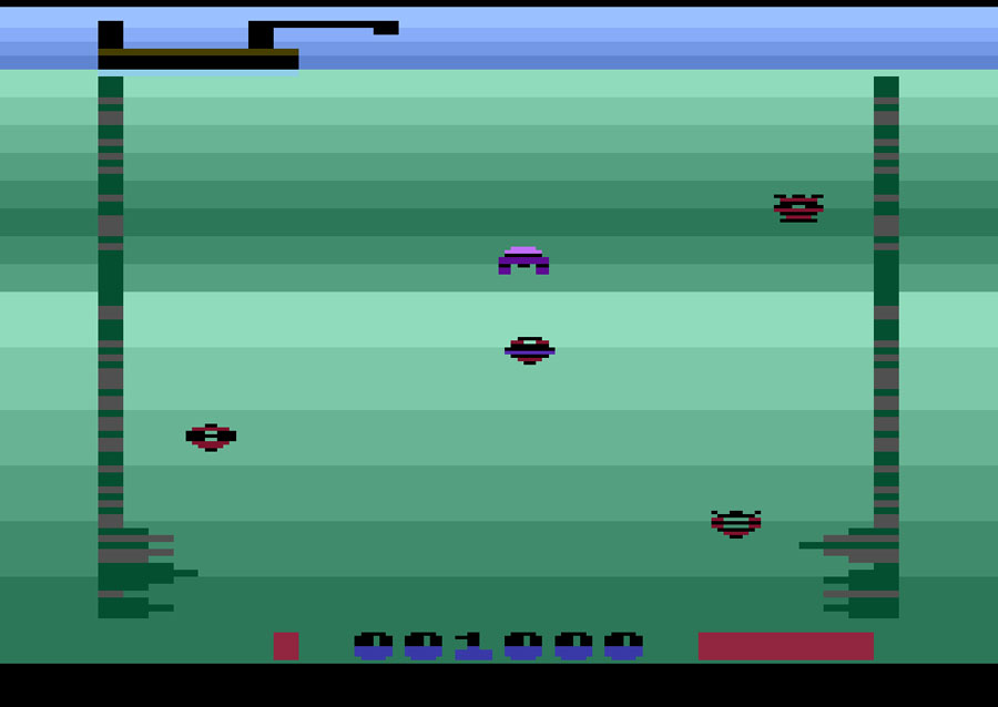 Winkdot's The Deep for Atari 2600 screenshot Classic Retro Gaming Video Game Review