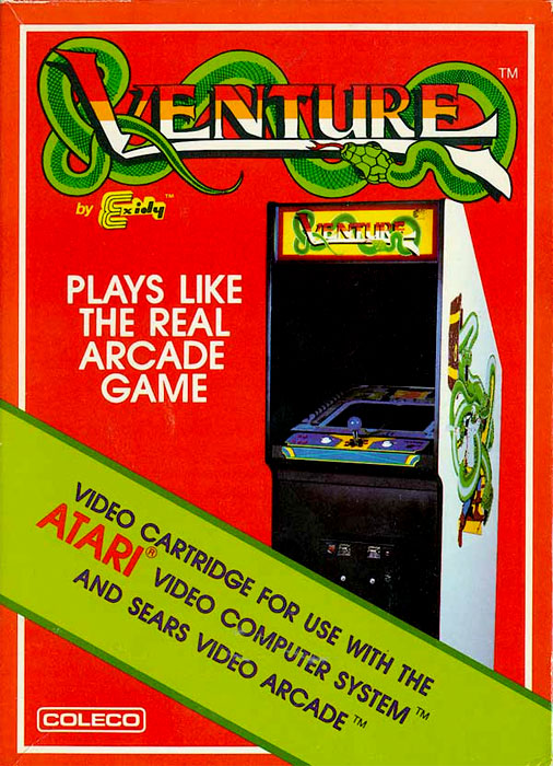 Game Review Coleco S Venture For Atari 2600 Fewer
