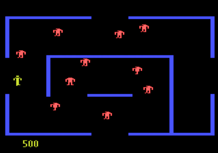 Atari Berzerk for Atari 5200 screenshot Classic Retro Gaming Video Game Review