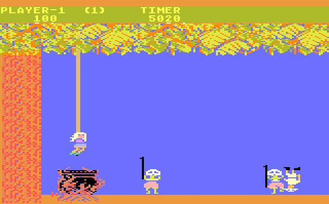 Atari Jungle Hunt for Atari 5200 screenshot Classic Video Game Review