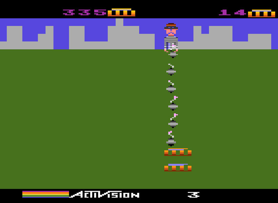 Activision's Kaboom! for Atari 5200 screenshot Classic Retro Gaming Video Game Review
