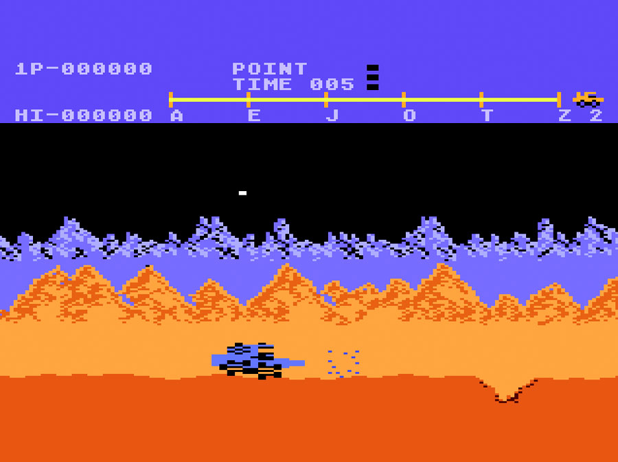 Atari Moon Patrol for Atari 5200 screenshot Classic Retro Gaming Video Game Review