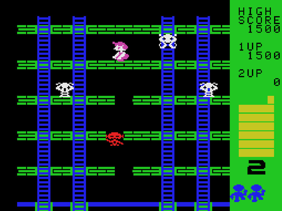 Bit's Cosmic Crisis for Colecovision screenshot Classic Retro Gaming Video Game Review