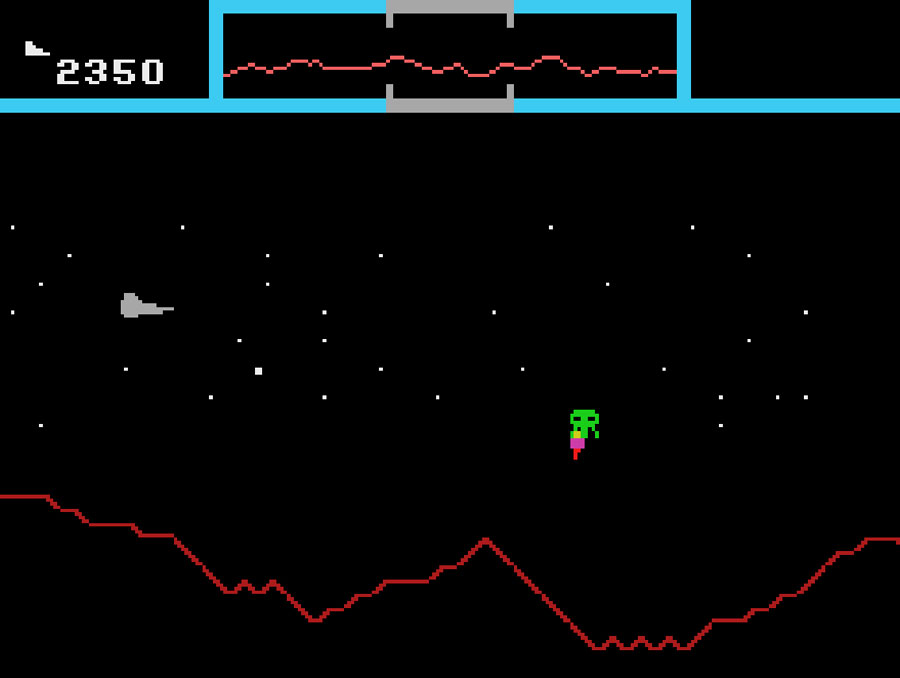Atarisoft's Defender for Colecovision screenshot Classic Retro Gaming Video Game Review