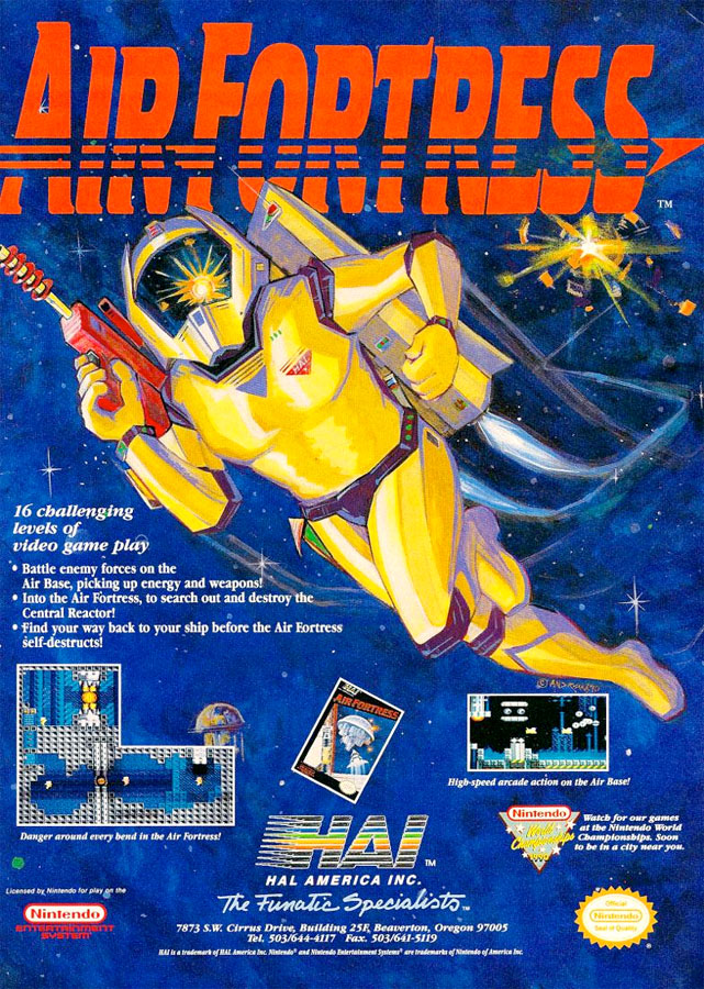 game review hals air fortress for nintendo nes