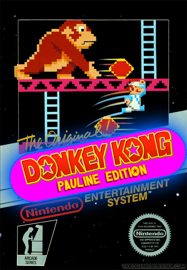 game review donkey kong pauline edition for nintendo nes. Black Bedroom Furniture Sets. Home Design Ideas