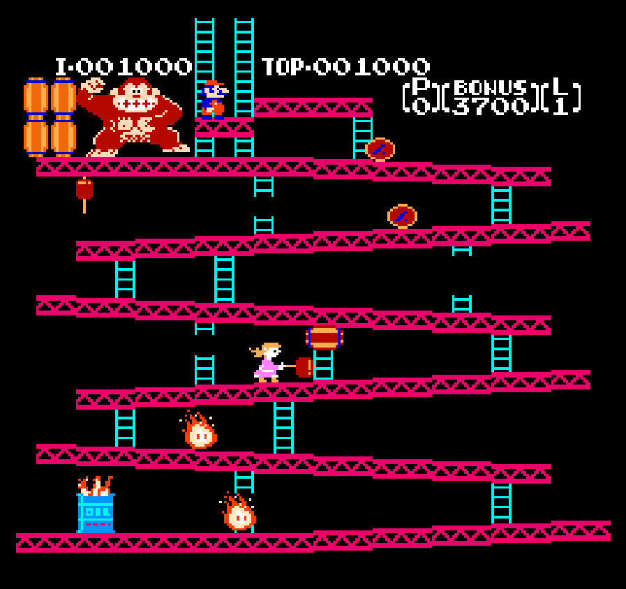 Donkey Kong Pauline Edition for Nintendo NES screenshot Classic Retro Gaming Video Game Review