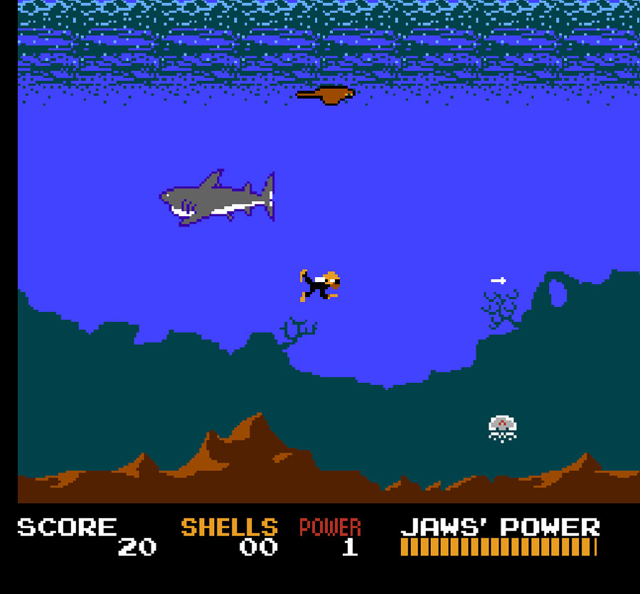 LJN's Jaws for Nintendo NES screenshot Classic Retro Gaming Video Game Review