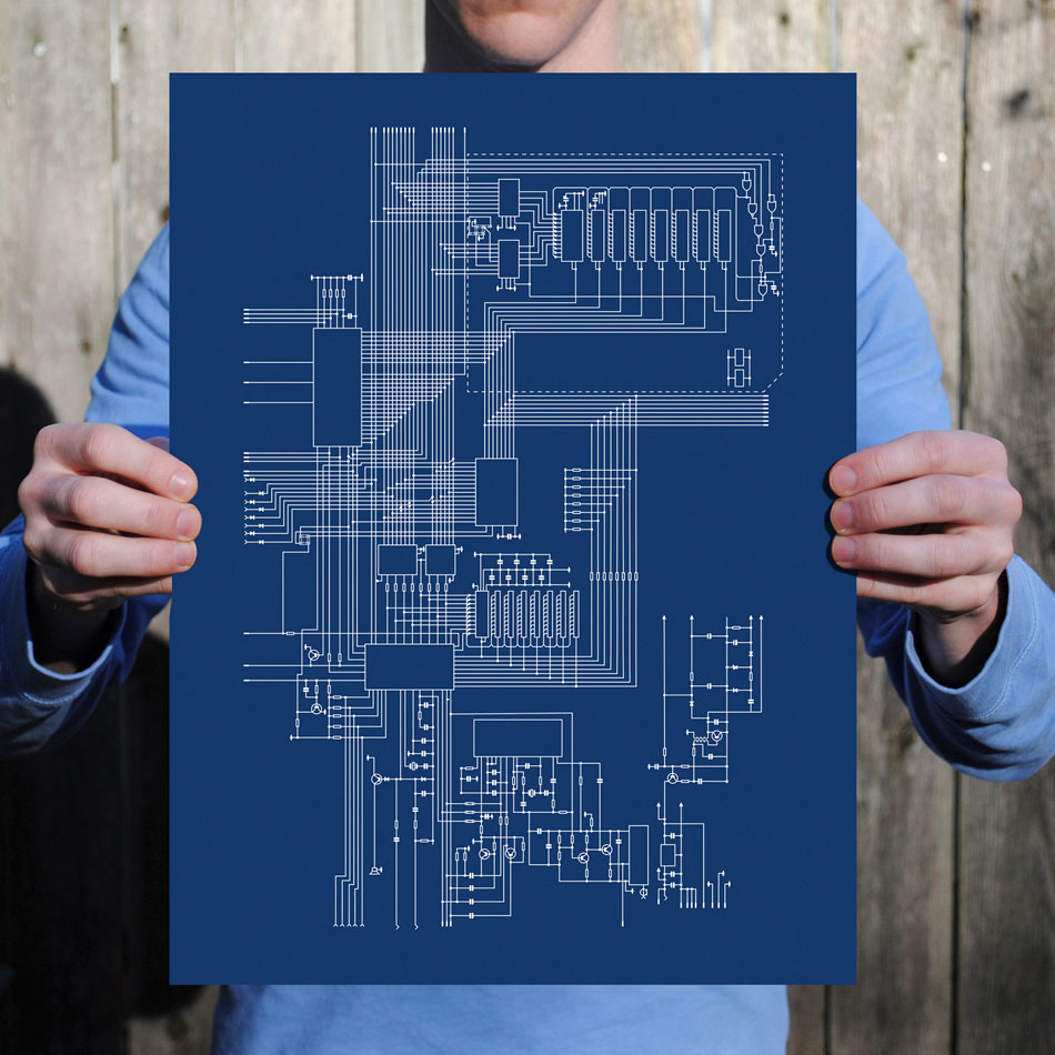 Vintage Computer Retro Video Game Console Schematics Become Fine Diagram Logic Games Sinclair Zx Spectrum Schematic Art Print From City Prints